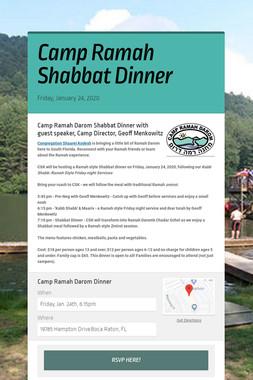 Camp Ramah Shabbat Dinner