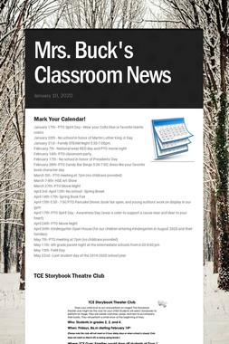 Mrs. Buck's Classroom News