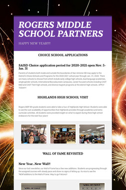 ROGERS MIDDLE SCHOOL PARTNERS