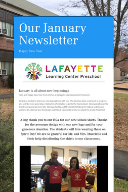 Our January Newsletter