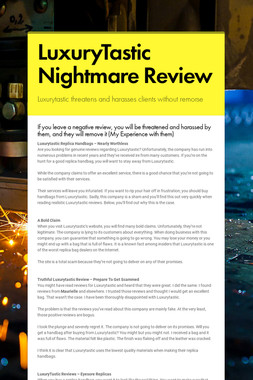 LuxuryTastic Nightmare Review