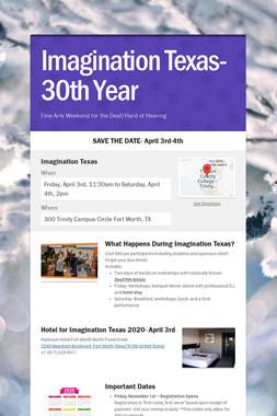 Imagination Texas-30th Year