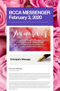BCCA MESSENGER  February 3, 2020