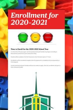 Enrollment for 2020-2021