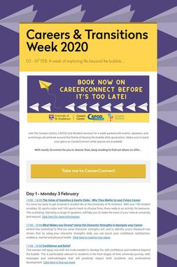 Careers & Transitions Week 2020