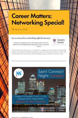 Career Matters: Networking Special!