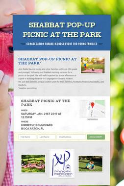 Shabbat Pop-Up Picnic at the Park