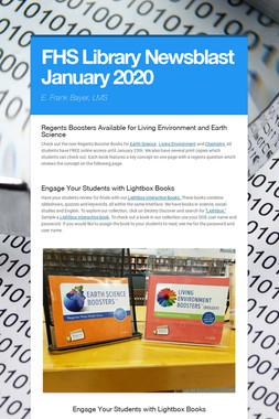 FHS Library Newsblast January 2020