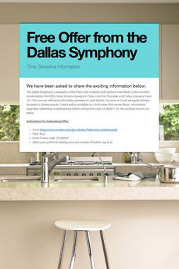 Free Offer from the Dallas Symphony