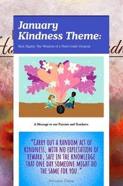 January Kindness Theme: