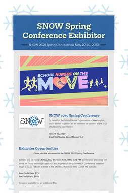 SNOW Spring Conference Exhibitor
