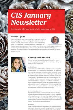 CIS January Newsletter