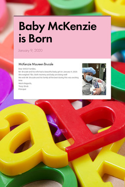 Baby McKenzie is Born