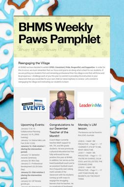 BHMS Weekly Paws Pamphlet