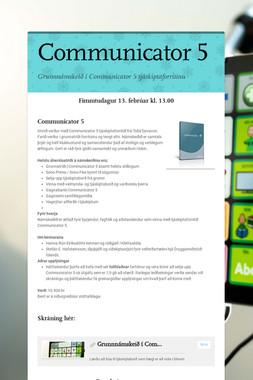 Communicator 5