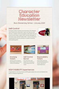 Character Education Newsletter
