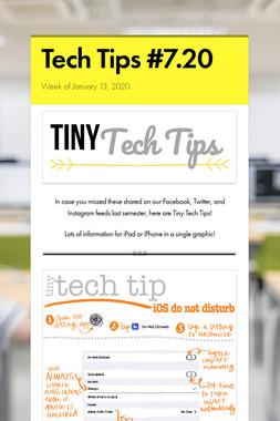 Tech Tips #7.20