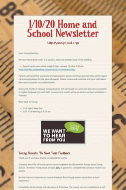 1/10/20 Home and School Newsletter
