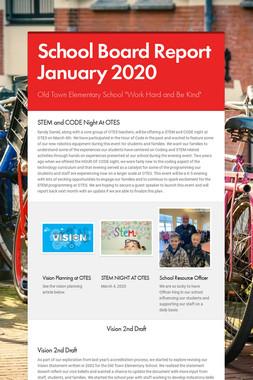 School Board Report January 2020