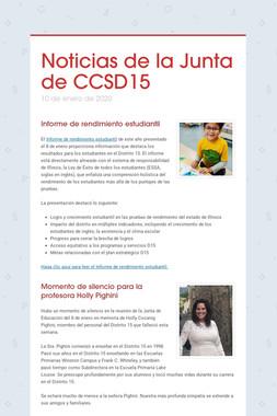 Noticias de la Junta de CCSD15