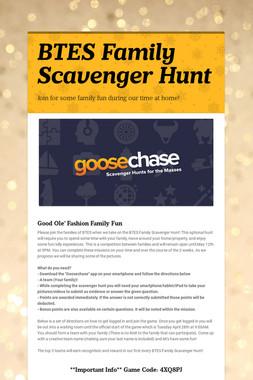 BTES Family Scavenger Hunt