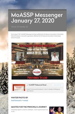 MoASSP Messenger January 27, 2020