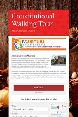 Constitutional Walking Tour