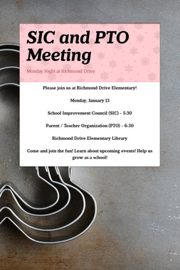 SIC and PTO Meeting