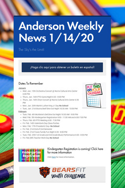 Anderson Weekly News 1/14/20