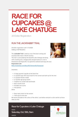 RACE FOR CUPCAKES @ LAKE CHATUGE