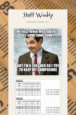 Staff Weekly