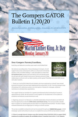 The Gompers GATOR Bulletin 1/20/20