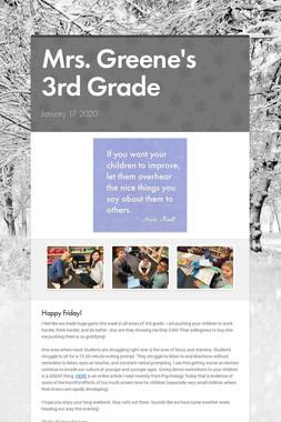 Mrs. Greene's 3rd Grade