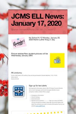 JCMS ELL News: January 17, 2020