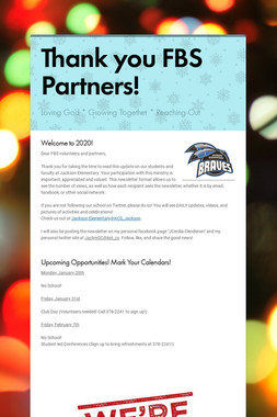 Thank you FBS Partners!