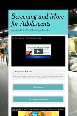 Screening and More for Adolescents