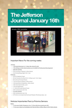 The Jefferson Journal January 16th