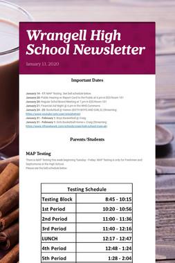 Wrangell High School Newsletter