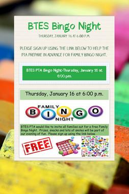 BTES Bingo Night
