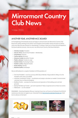 Mirrormont Country Club News