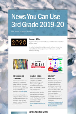 News You Can Use 3rd Grade 2019-20