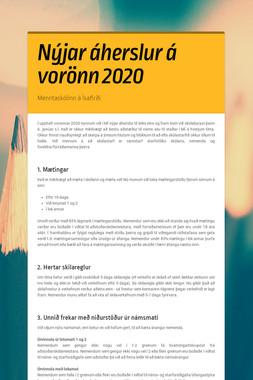 Nýjar áherslur á vorönn 2020