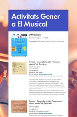 Activitats Gener a El Musical