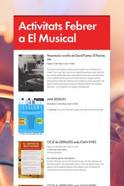 Activitats Febrer a El Musical
