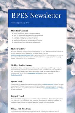 BPES Newsletter
