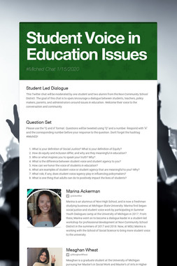 Student Voice in Education Issues
