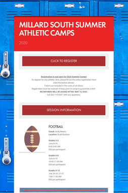 MILLARD SOUTH SUMMER ATHLETIC CAMPS