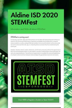Aldine ISD 2020 STEMFest