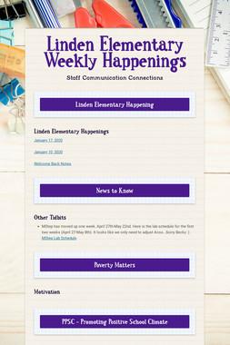 Linden Elementary Weekly Happenings