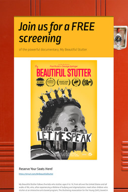 Join us for a FREE screening